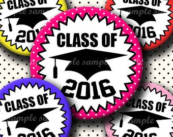 INSTANT DOWNLOAD Class Of 2016 (635) 4x6 Bottle Cap Images Digital Collage Sheet for bottlecaps glass tiles hair bows .. bottlecap images