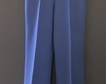 vintage Double-knit Polyester PANTS, Baby-blue, Size 6