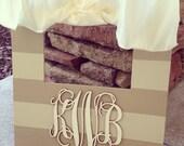 Monogram personalized custom hand painted frames - great gift item for wedding, baby, graduation, birthday, christmas