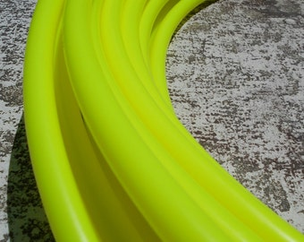 """5/8"""" UV Yellow Radiance Colored Polypro Hula Hoop with Custom Tubing Size, Diameter & Grip Options!"""