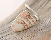 Copper Silver Ring - Big Ring Mokume Ring -