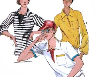 Butterick 5526 Vintage 70s Misses' Top Sewing Pattern - Uncut - Size 12 - Bust 34