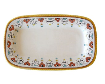 Fratelli Mari Deruta Italian Majolica Serving Platter Made in Italy