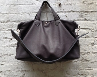 Large Leather East West Bag - Spectacular - Laurel Dasso