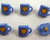 I Love Coffee Buttons Set of Six
