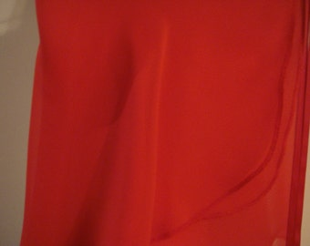 "14"" Red Chiffon Adult Ballet Wrap Skirt"