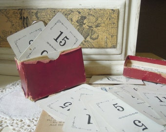 Vintage Flinch Card Game / Wedding Table Numbers / Scrapbooking Supplies / 1913 Edition