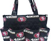 San Francisco 49ers Bingo Bag // Craft Organizer // Makeup Organizer // Caddy // Teacher Tote // Nurse Tote