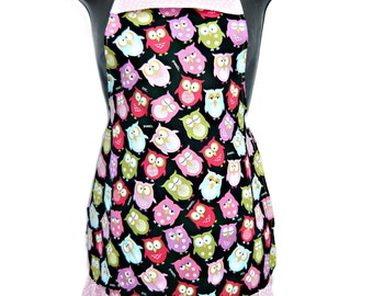 Owls Apron Kids Size 4-6-8-Young Adult