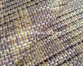 "cotton linen blend tweed fabric, half yard by 56"" wide"