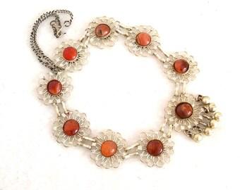 Vintage Middle Eastern Necklace Agates Bells