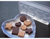 Silicone Flexible Assorted Biscuits Mold for Dollhouse Miniature