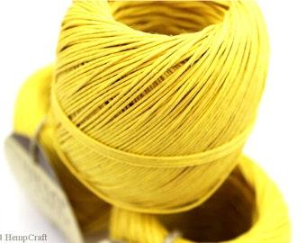 Hemp Cord, Yellow 400ft Hemp Twine Ball, Colored Twine, Craft String