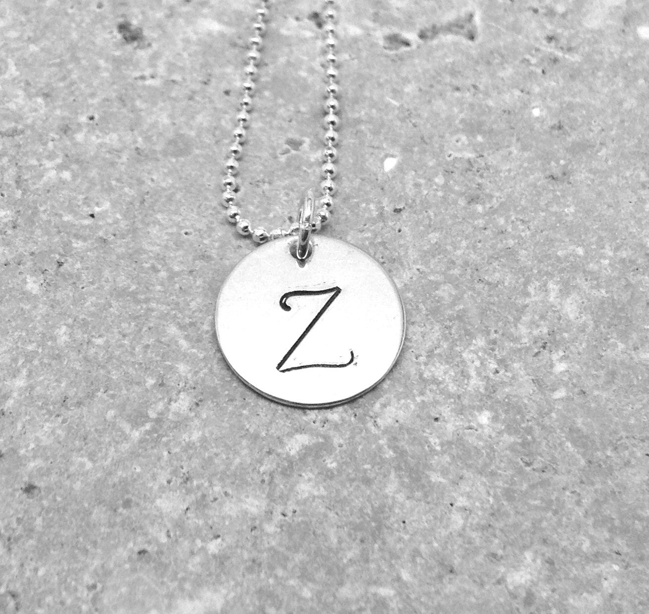 letter a initial necklace large initial necklace letter z necklace sterling silver 17416 | il fullxfull.608507755 edtx