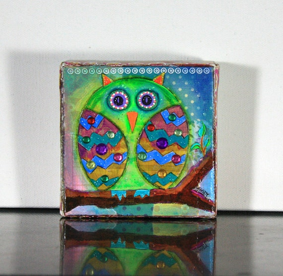 Owl Decor Whimsical Owl Art Cool Gifts For Kids Cute Owl