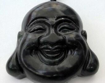 Natural Stone Pendant One Tibet Buddhist Buddha Head Amulet  Talisman Bead For Handwork Jewelry   TH013