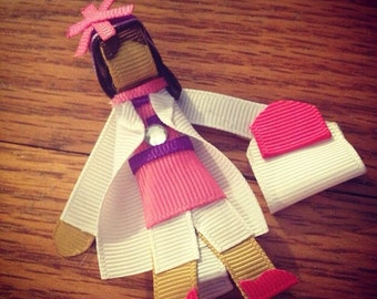 ribbon sculpture disney inspired princess clips or headband (price is for 3)