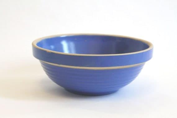 Blue Stoneware Mixing Bowl