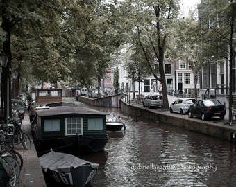 Amsterdam Photography, Fine Art Prints Mounted, Amsterdam Canal, Travel Photography