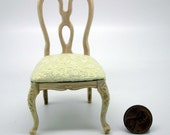 Miniature dollhouse furniture unfinished chair  - code  VMJ 1126