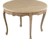 Miniature dollhouse unfinished round table - code VMJ 1140