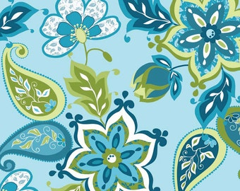 Lila Tueller for Riley Blake Designs - SPLENDOR - Main in Blue - Cotton Fabric
