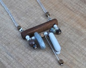 White Inukshuk necklace,W...
