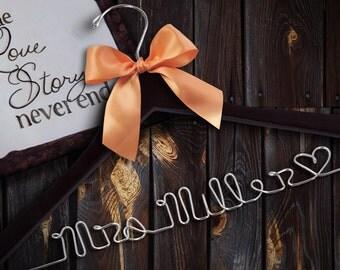 SALE Personalized Hangers for Wedding / Personalized Custom Bridal Hanger/ Brides Hanger/ Name Hanger / Wire Hanger