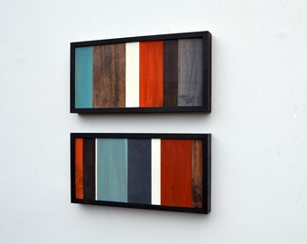 Wood Sculpture Art - Color Block Collection - 12x24 set