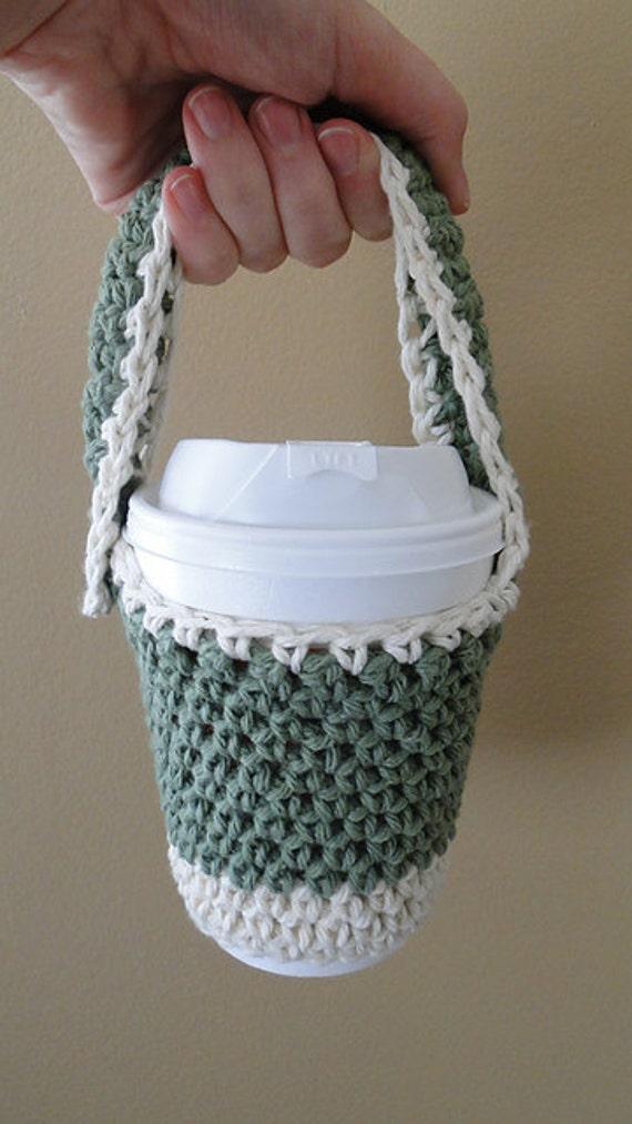 Knitting Pattern Cup Holder : Crochet Cup Holder PDF Knitting Pattern by loverubyknits ...