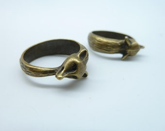 8pcs 17mm Antique Bronze 3D Ring Charm Pendant  c2037