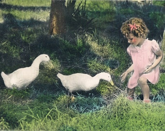 Come, Duckies Hand Tinted Photo Print