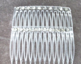 Vintage Rhinestone Hair Combs, Perfect Wedding Piece