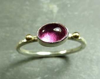 Lush Pink Tourmaline Ring with 14K Gold - Ready to ship