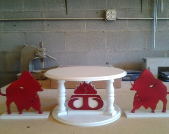 Round or Square Cake Stand Set With Custom Accent Pieces.