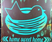 Home Sweet Home hand painted wood sign