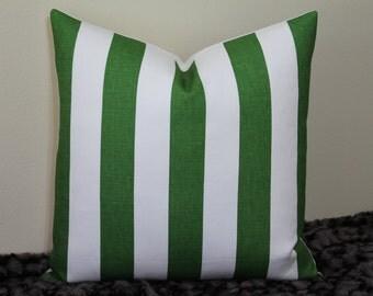 "SALE - SET of TWO - Windsor Smith for Kravet - Cap Deluca Veridan Green Stripe - 20"" x 20"" Decorative Designer Pillow Covers"