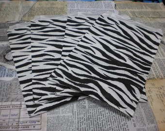 Zebra Print Gift Bags 6 x9 Set of 50