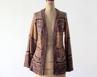 1970s hippie cardigan sweater