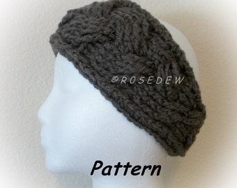 Instant Download to PDF CROCHET Pattern: The Braided-Look Headband