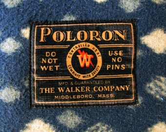 """1920's """"Poloron"""" Heating Pad from the Walker Company, Middleboro, Mass."""