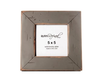 5x5 Cabin picture frame - Gray Green