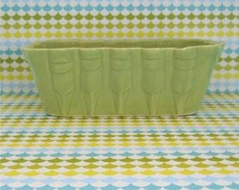 UPCO Art Deco Motif Pottery Glazed Planter