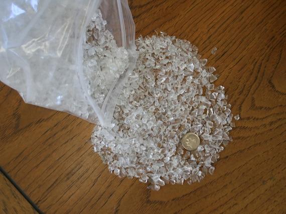 Clear crushed glass vase filler