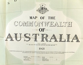 Very Large South West Australia Map, Vintage Map of Australia, South Western Australian map
