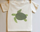 Kids clothing, turtle tshirt. 2T, 3T, 4T