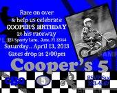 Motocross Party Invitation Photo Birthday Honda red, Yamaha blue, Kawasaki green, KTM orange, Suzuki yellow, Dirt Bike Motorcross ATV Racing