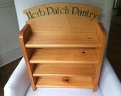 Light Wood Herb Patch Pantry Shelf