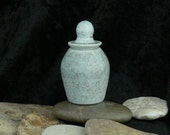 Wheel Thrown Tiny Lidded Porcelain Pot
