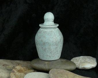 Wheel Thrown Tiny Lidded Porcelain Pot